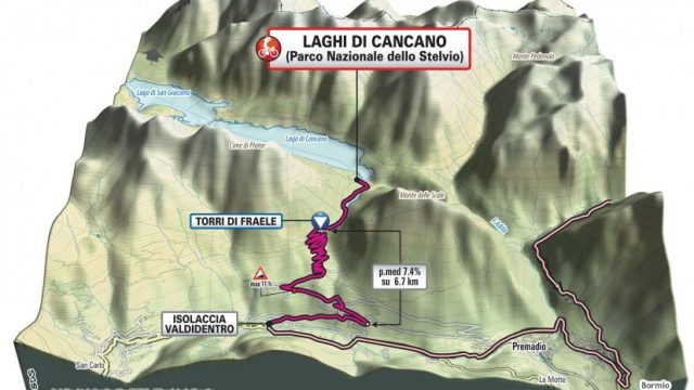 Il Giro d'Italia 2020 passa per Bormio, Stelvio e Cancano